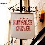 Sign outside the Shambles Kitchen