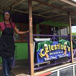 Celestine's! Great Canteen! (2 minute walk outside the cave parking lot)