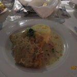 Parmesan crusted baracuda
