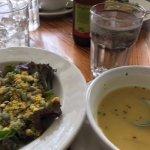 Esmeralda salad and Indonesian coconut veggie soup! DELICIOUS!