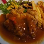 chicken chop, like how I'd remember it from my childhood days