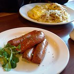 Chorizo Sauage, Crab Omelet with hash browns