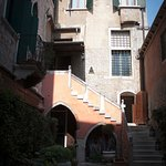 The courtyard entrance to Palazzo Odoni.
