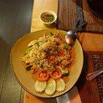 Hühnerreis und Gemüse