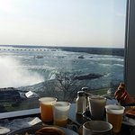 View from The Keg House Restaurant on 9th Floor of Hotel. (Breakfast time)
