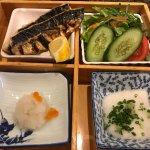 Le plat, sans la photo du riz et de la soupe