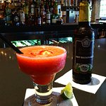 Delightful margarita and Great selection of beer.