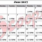 June 2017 hours.
