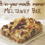 Dark chocolate, milk chocolate, butterscotch, walnuts and toasted coconut on a graham crust