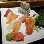 Sushi/Sashimi Combo plate with California Roll