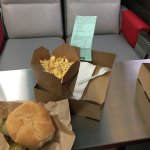 double burger/poutin