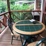 lovely outdoor dining table on porch
