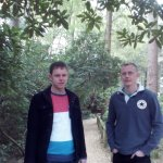 My boyfriend and his cousin in Wallby wood