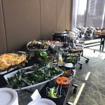 The hotel set up a fabulous lunch buffet for our group in a section of the dining room/restauran