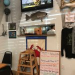 Kind and Cozy!  I kept coming back again and again.  Fresh Catch, platter or on a bun!  I sugges