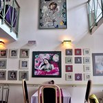 The art on the walls is by the owner's daughter.