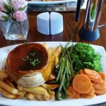 The delicious homemade steak & ale pie