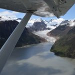 Flying over glaciers
