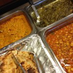 Chick peas, spinach and other items on the Yak buffet