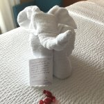 Towel sculpture in our room upon arrival