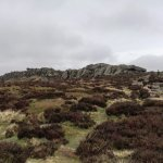 Rock formations at the top of the Roaches