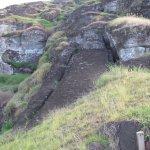 Particolare Moai incompleto