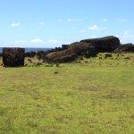 Moai rovesciato