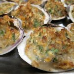 Delicious baked Clams