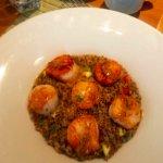 scallops with quinoa