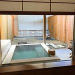 Outdoor private onsen as seen from our room.