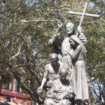 Monumental Statue of Saint Augustine in Exterior Forecourt