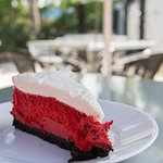 Red velvet cheesecake - a crowd favorite!