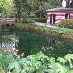 Antigua casa de baños en el Parque botanico de Gijón
