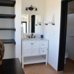 Included in Suite A is a vanity just off the shower and walki-n closet.