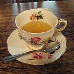 Love the vintage cup of peppermint tea!