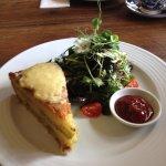 Mmm Fresh homemade Homity Pie, homemade tomato sauce, fresh garden salad