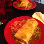 breakfast burritos! smothered in delicious green chili