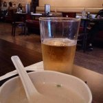 Miso soup and beer
