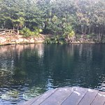 the largest cenote at the resort-snorkeling can be done here