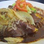 chocolate mole chicken enchiladas