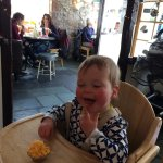 Isla enjoying her lunch