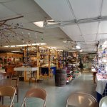 The store is clean and tastefully decorated with their beautiful glass.
