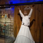 Whirling dervish in hall