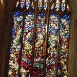 brightly colored stained-glass window