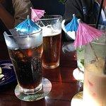 Even beer, soda and pina colada all got umbrellas