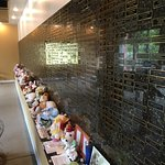 Just part of the wall of plaques to aborted babies, along with letters, notes, and gifts.