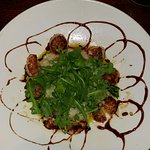 Seared George's Bank Scallops -- Sea Scallops - asparagus risotto & baby arugula basil infused o