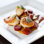 Scallops Romesco