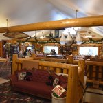 Main lodge entry with dining room (great views)