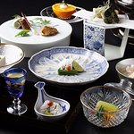 Japanese Cuisine Shimonoseki Shunpanro Tokyo Foto